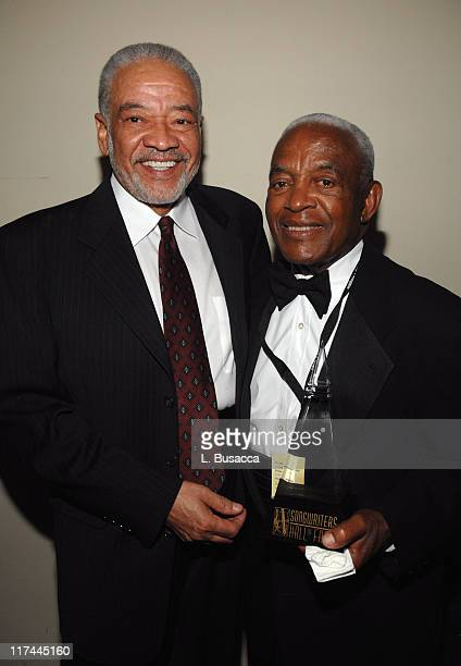 Bill Withers and Irving Burgie during 38th Annual Songwriters Hall of Fame Ceremony Cocktails and Backstage at Marriott Marquis in New York City New...