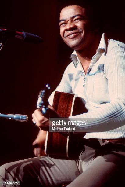 Bill Withers performs on stage, Hammersmith Odeon, London, November 1972.