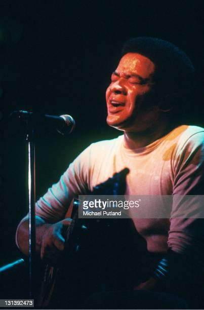 Bill Withers performs on stage Hammersmith Odeon London November 1972