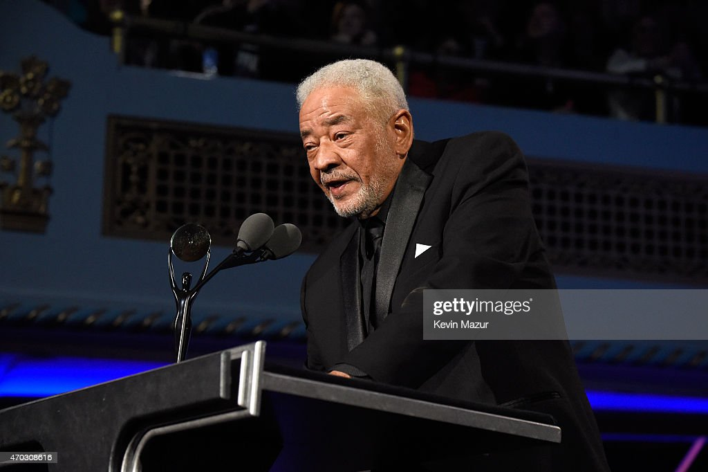 Bill Withers speaks onstage during the 30th Annual Rock And Roll Hall Of Fame Induction Ceremony at Public Hall on April 18, 2015 in Cleveland, Ohio.