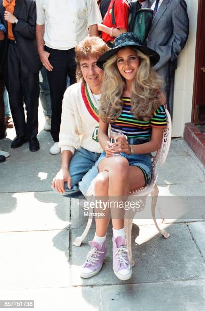 Bill Wyman and Mandy Smith at Sticky Fingers Bill's new restaurant in Kensington 9th May 1989