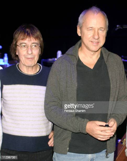 Bill Wyman and Mark Knopfler during Bill Wyman Show at Royal Albert Hall London in London Great Britain