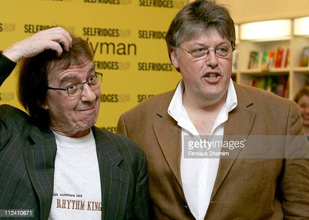 Bill Wyman and Richard Havers during Bill Wyman and Richard Havers sign copies of 'The Stones A History In Cartoons' at Selfridges April 27 2006 at...
