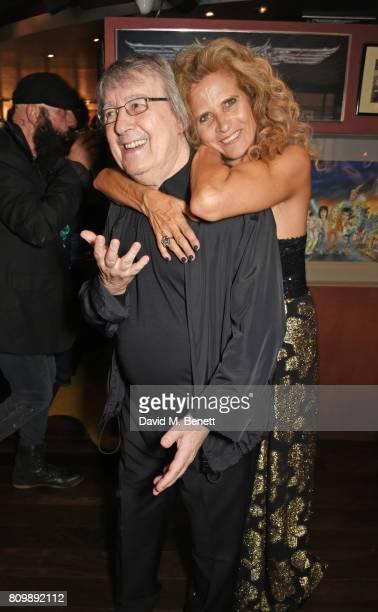 Bill Wyman and Suzanne Wyman attend Sticky Fingers' 28th Birthday hosted by Bill Wyman on July 6 2017 in London England