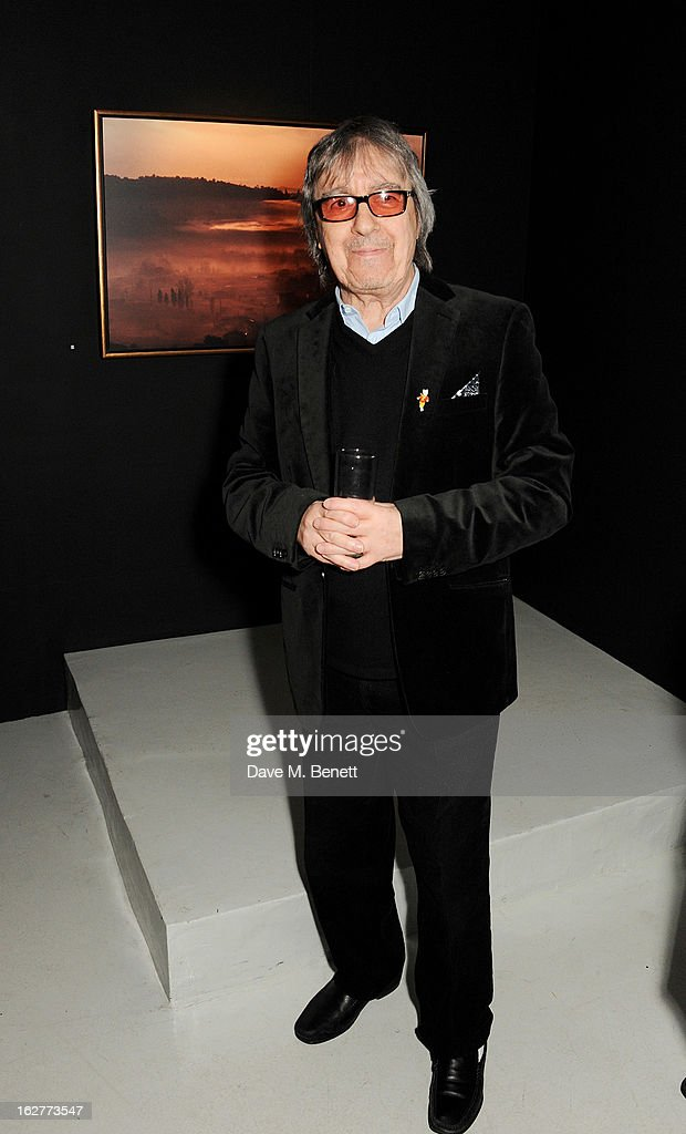Bill Wyman attends a private view of Bill Wyman's new exhibit 'Reworked' at Rook & Raven Gallery on February 26, 2013 in London, England.