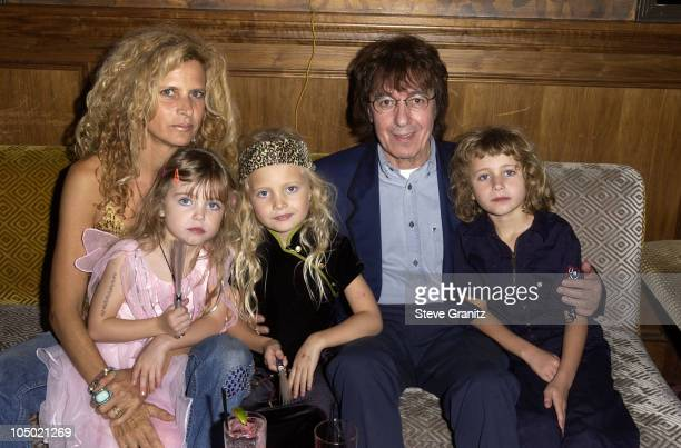 Bill Wyman family during Bill Wyman Celebrates His Birthday At His Hollywood Book Launch Party at Bar Marmont in West Hollywood California United...