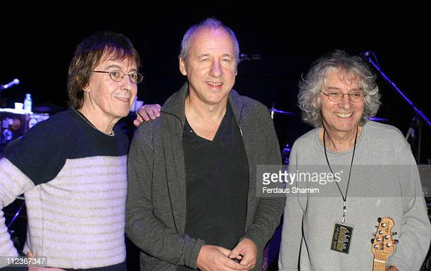 Bill Wyman Mark Knopfler and Albert Lee during Bill Wyman Show at Royal Albert Hall London in London Great Britain