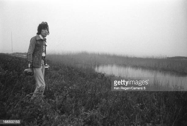 Bill Wyman of the Rolling Stones are photographed at artist Andy Warhol's home in 1975 in Montauk New York CREDIT MUST READ Ken Regan/Camera 5 via...