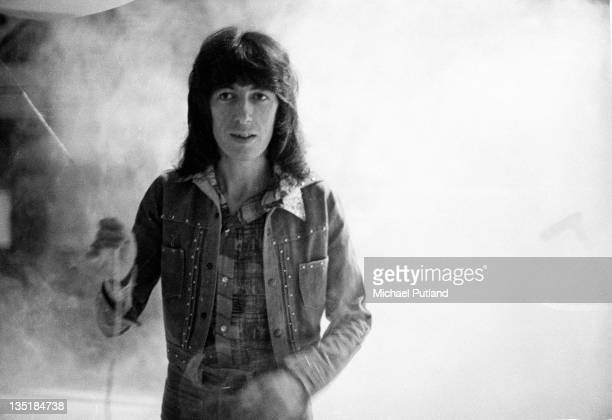 Bill Wyman of the Rolling Stones during a soundcheck at Wembley Empire Pool London 7th September 1973