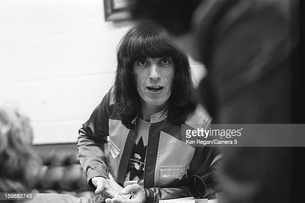 Bill Wyman of the Rolling Stones is photographed backstage in 1972 in Los Angeles California CREDIT MUST READ Ken Regan/Camera 5 via Contour by Getty...