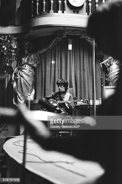 Bill Wyman of The Rolling Stones rehearsing for a radio session United Kingdom circa 1965