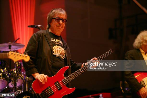 Bill Wyman performs on stage with his band Bill Wyman's Rhythm Kings at Cadogan Hall on December 1 2009 in London England