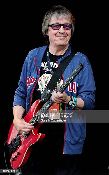 Bill Wyman performs with Micki Free during day 2 of the Hard Rock Calling festival held in Hyde Park on June 26 2010 in London England