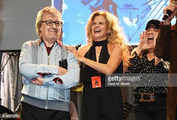 Bill Wyman Suzanne Wyman and Jeanne Marine attend Bill Wyman's 80th Birthday Gala as part of BluesFest London at Indigo at The O2 Arena on October 28...