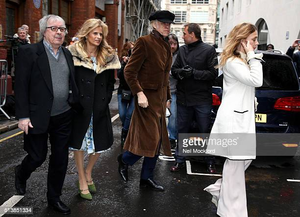 Bill Wyman Suzanne Wyman Sir Bob Geldof and Jeanne Marine arrive for the wedding of Jerry Hall and Rupert Murdoch at St Brides Church on Fleet Street...