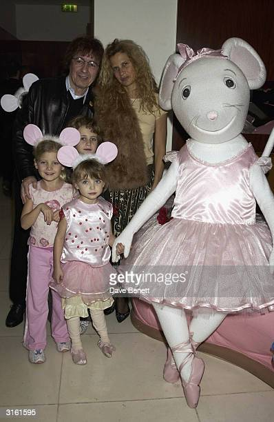 Bill Wyman with his wife Suzanne and their daughters at the Angelina Ballerina Nutcracker gala preparty on December 3rd 2002 at the St Martins hotel...