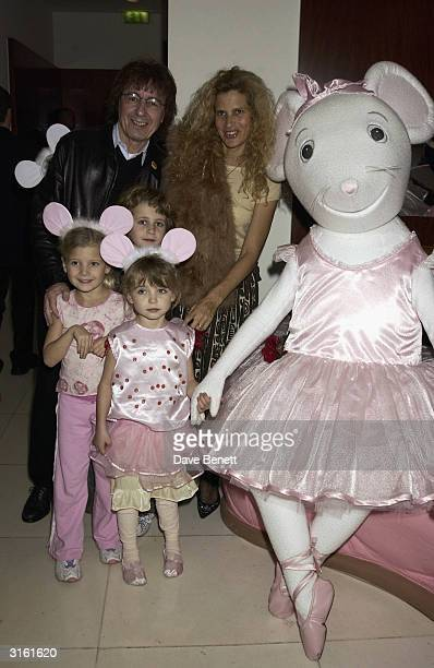 Bill Wyman with his wife Suzanne and their girls at the Angelina Ballerina Nutcracker gala preparty on December 3rd 2002 at the St Martins hotel in...