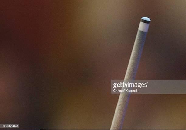 Billard WM 2004 Viersen Mannschaft Dreiband Spezial Detail Queuespitze 050304