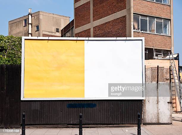 billboard advert space in london - east london stock pictures, royalty-free photos & images