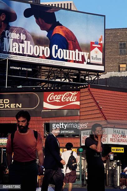 Billboard Advertisement for Marlboro Cigarettes