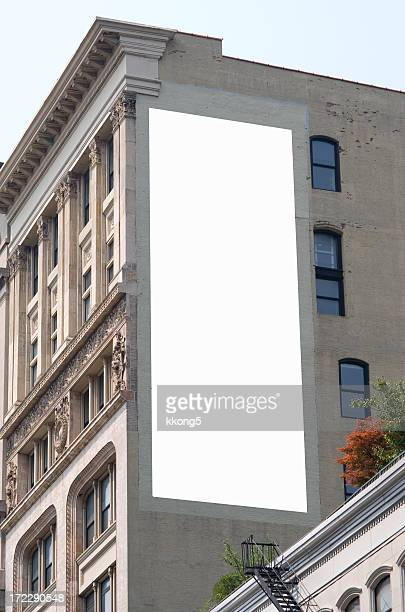 billboard advertisement space in manhattan new york - vertical stock pictures, royalty-free photos & images