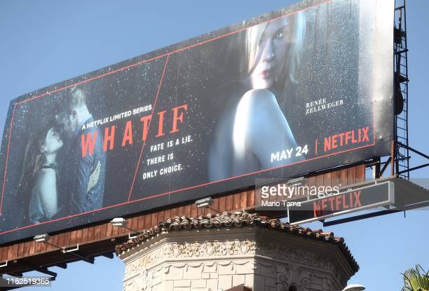 A billboard advertises a Netflix television series on Hollywood Boulevard on May 29 2019 in Los Angeles California Netflix chief content officer Ted...