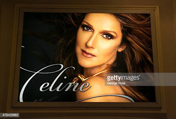 A billboard at Caesars Palace features an ad for Celine Dion's residency show at The Colosseum at Caesars Palace is viewed on May 19 2015 in Las...