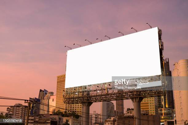 billboard blank for outdoor advertising poster on the highway - news not politics stock pictures, royalty-free photos & images
