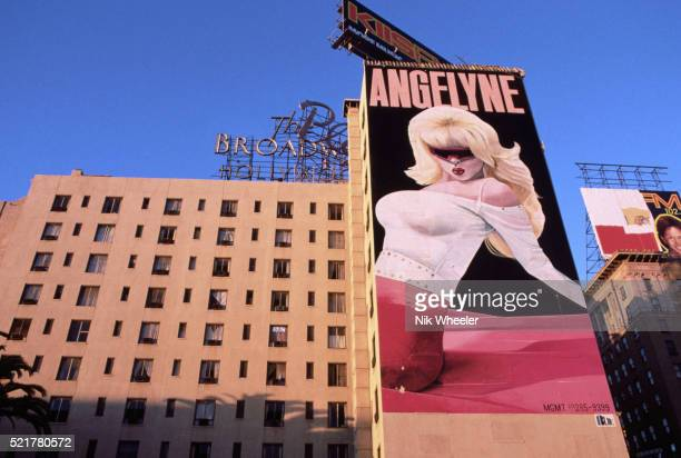 Billboard Depicting Angelyne in Hollywood
