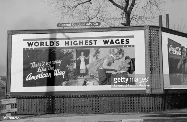 Billboard during Flood Memphis Tennessee USA Edwin Locke for US Resettlement Administration February 1937