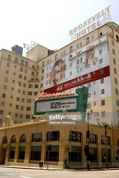 Billboard during H M Unveil Their New Billboard at The Roosevelt Hotel at Roosevelt Hotel in Hollywood California United States