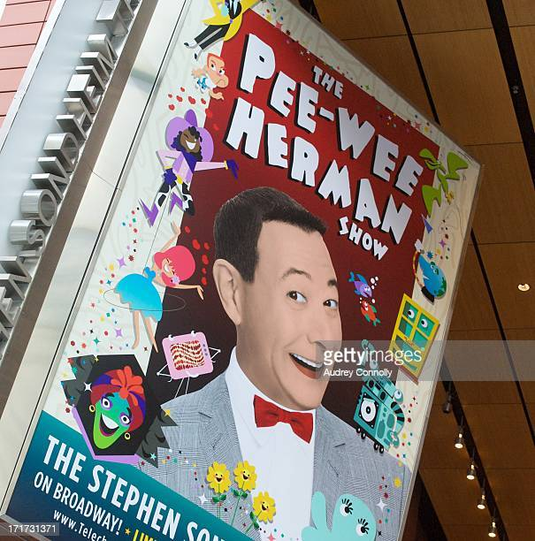 CONTENT] billboard for The PeeWee Herman Show on Broadway at the Stephen Sondheim Theater