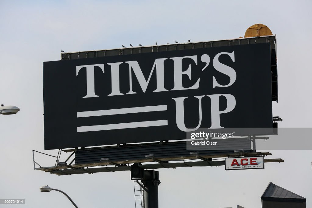 Billboard for Time's Up on Sunset Boulevard