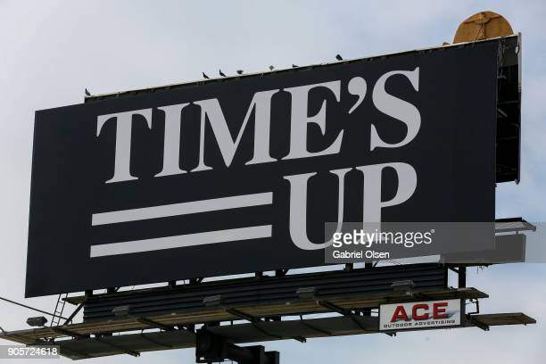 Billboard For Time's Up on Sunset Boulevard on January 16 2018 in Los Angeles California