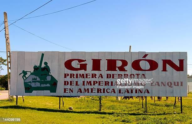 Billboard In Playa Giron Cuba Declaring Victory Over American Imperialism