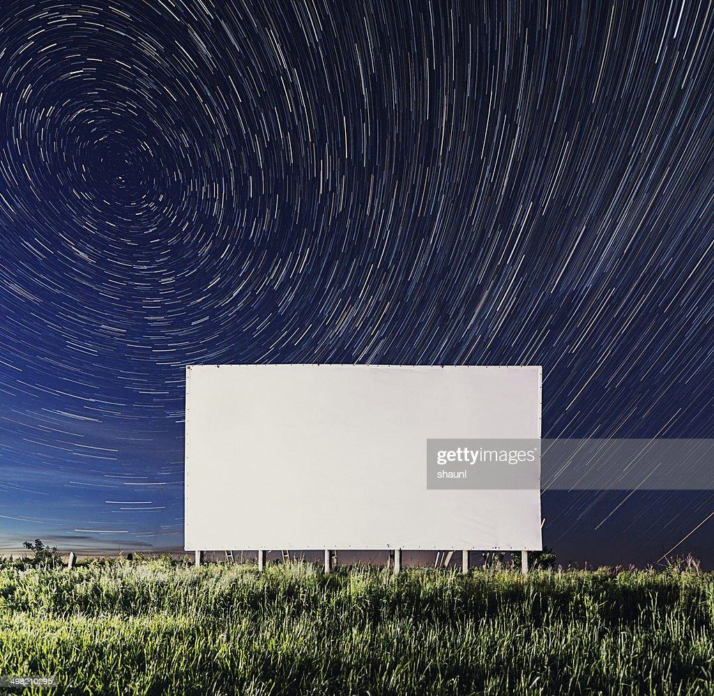 Billboard in the Stars : Stock Photo
