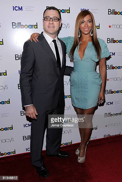 Billboard Magazine Editor and Cheif Bill Werde and singer Beyonce at Billboard's 4th Annual Women In Music event at The Pierre Hotel on October 2...