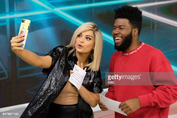 '2018 Billboard Music Awards' Billboard 2018 Nominations announcement on 'TODAY' April 17 2018 in New York City Pictured Khalid Bebe Rexha