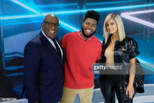 '2018 Billboard Music Awards' Billboard 2018 Nominations announcement on 'TODAY' April 17 2018 in New York City Pictured Al Roker Khalid Bebe Rexha