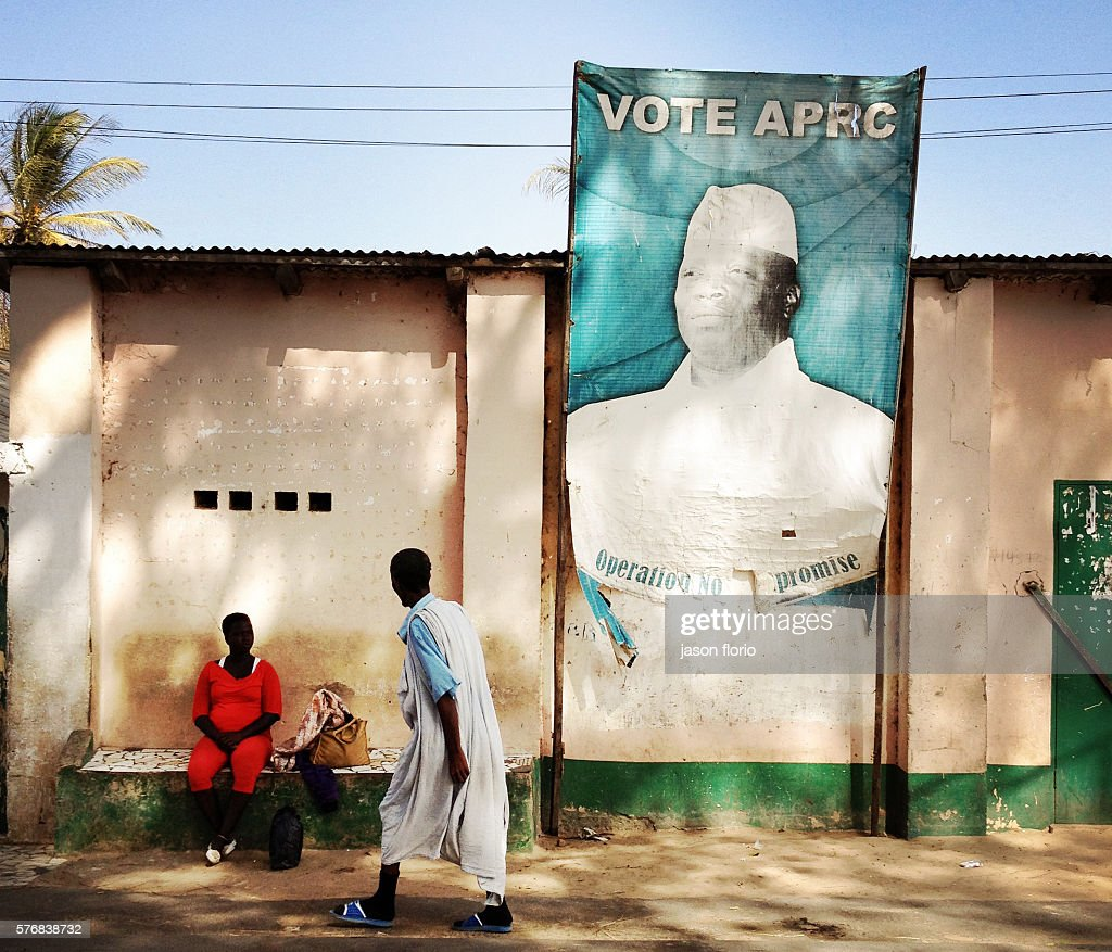 Billlboard of Gambia's President Yayah Jammeh : News Photo