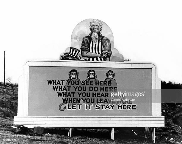 A billboard posted in Oak Ridge 31st December 1943 The town of Oak Ridge was established by the Army Corps of Engineers as part of the Clinton...