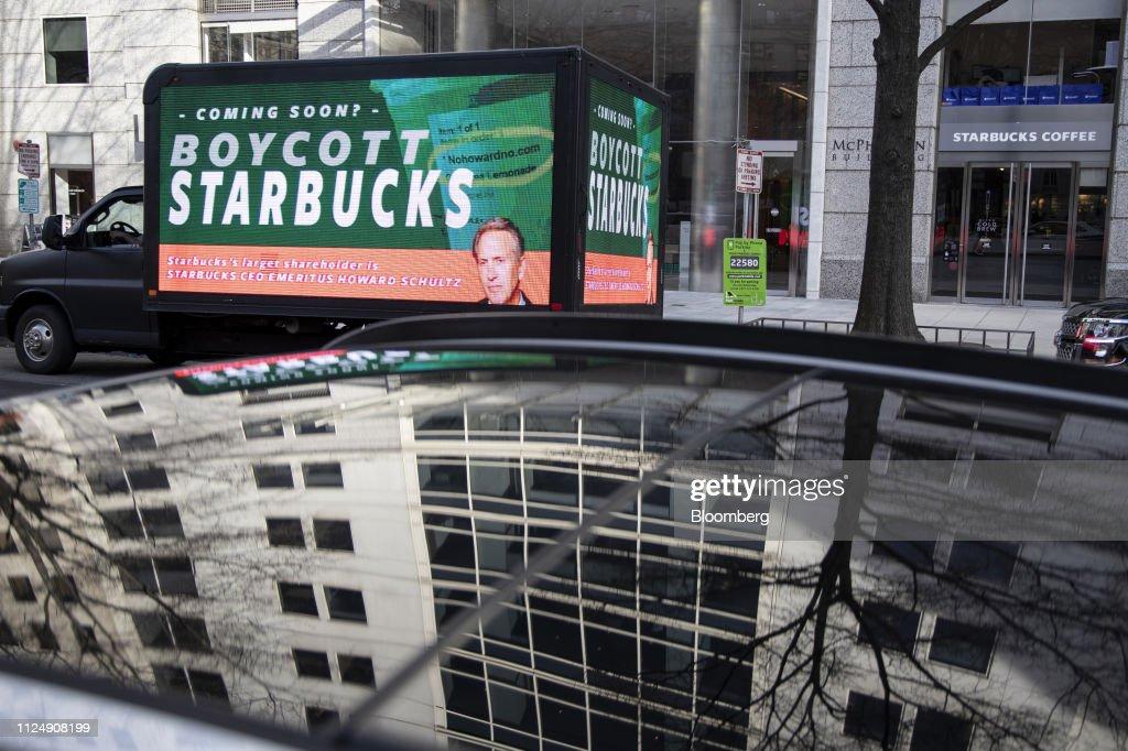 DC: Billboard Protests Starbucks' Former CEO Schultz Independent Bid In 2020