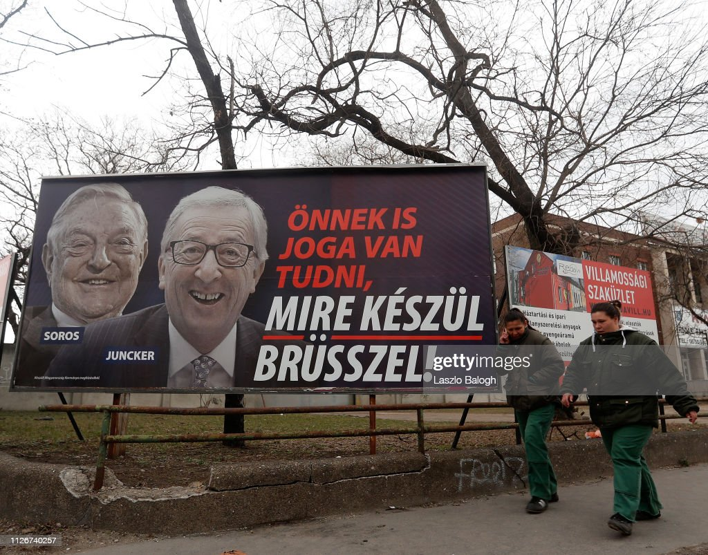 Hungary Launches Media Campaign Targeting EU And Soros 2:110:12:Getty : Nachrichtenfoto