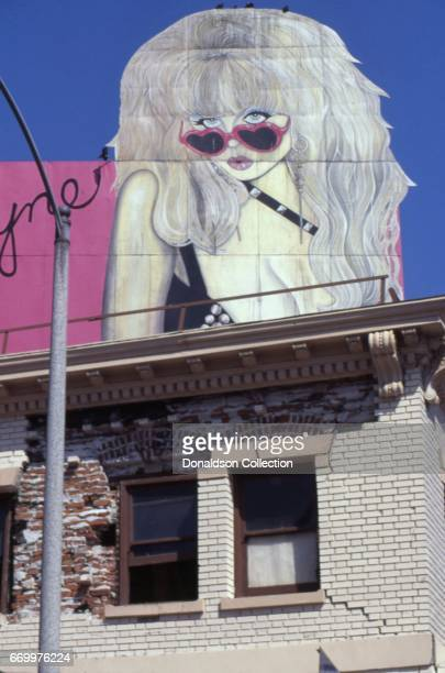 A billboard with Angelyne on it in September 1995 in Los Angeles California