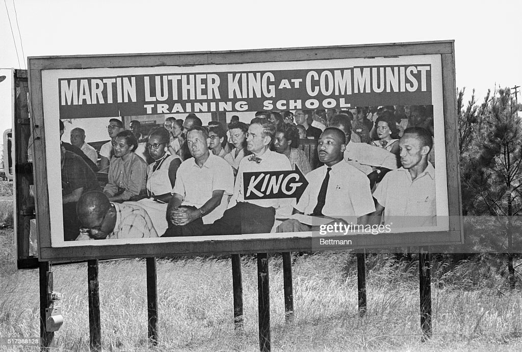 Billboard Targeting Dr. Martin Luther King, Jr. : News Photo