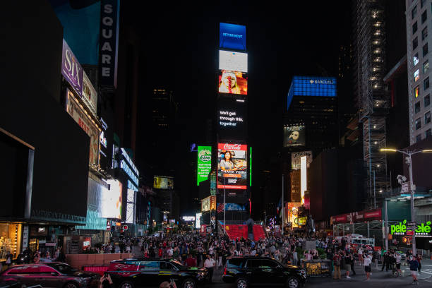 NY: Times Square Turns Off All Billboards In Support Of Vulnerable Businesses During Coronavirus Pandemic