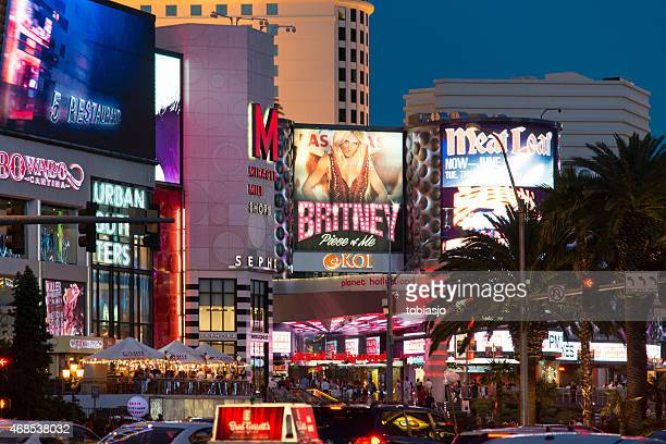 Billboards on the Las Vegas Strip at night