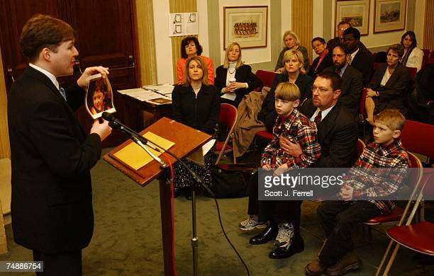 BILLDuring a news conference opposing the the medical malpractice bill which is being considered on the Senate floor Dylan Malone of Everett Wash...