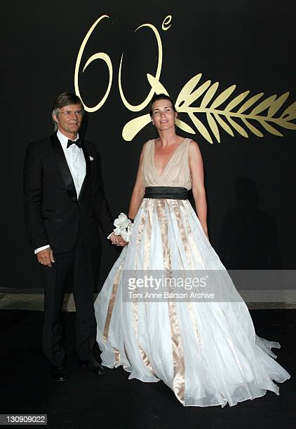 Bille August and guest during 2007 Cannes Film Festival 60th Anniversary Dinner in Cannes France
