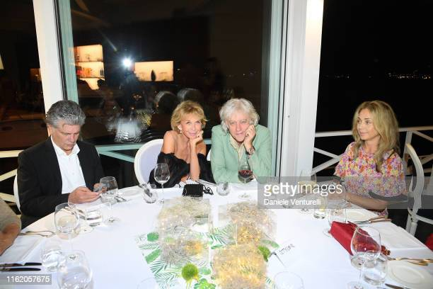 Bille August Trudie Styler Bob Geldof and Jeanne Marine attend the 2019 Ischia Global Film Music Fest opening ceremony on July 14 2019 in Ischia Italy